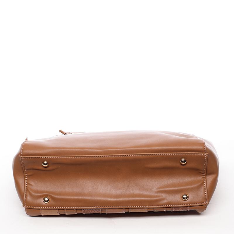 Elegantní kabelka přes rameno Reagan, koňaková