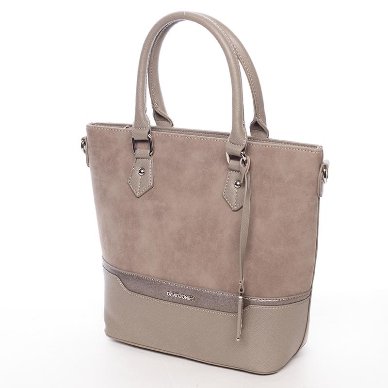 Luxusní kabelka do ruky i přes rameno Emerson, oříšková