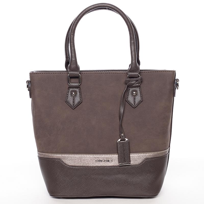 Luxusní kabelka do ruky i přes rameno Emerson, tmavě hnědá