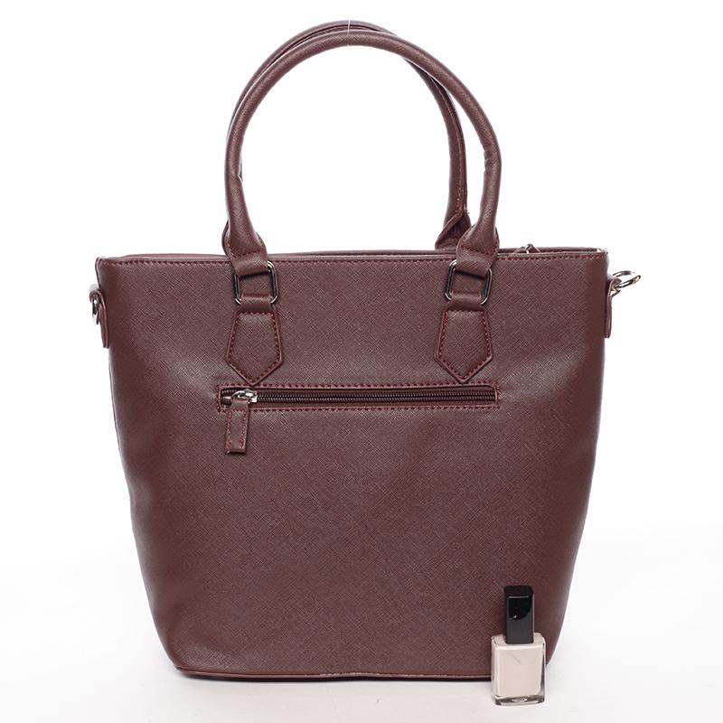 Luxusní kabelka do ruky i přes rameno Emerson, bordó