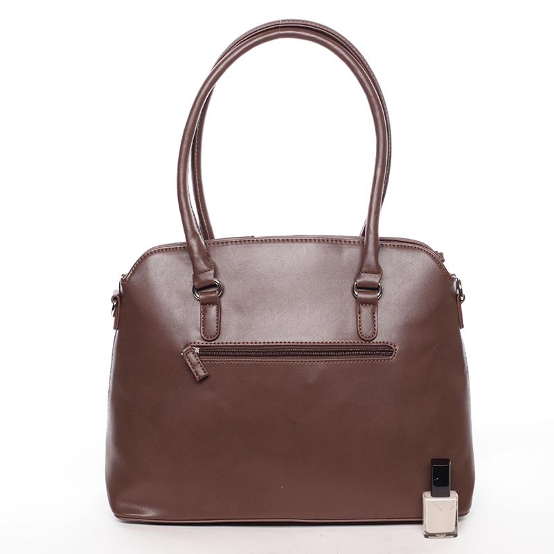 Dámská luxusní kabelka do ruky Arlie, tmavě hnědá