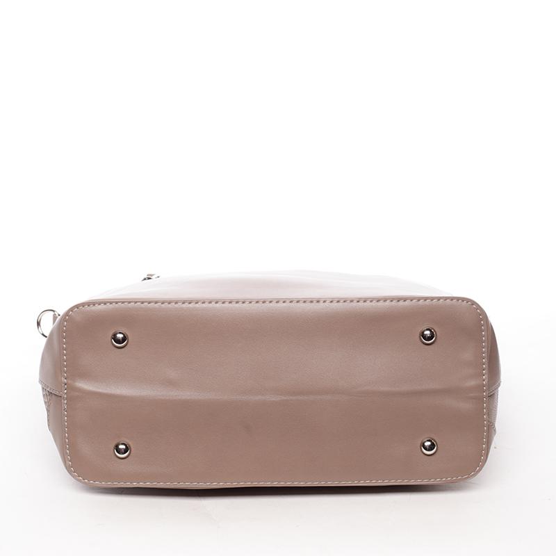 Dámská kabelka střední velikosti Lidiya, tmavě béžová