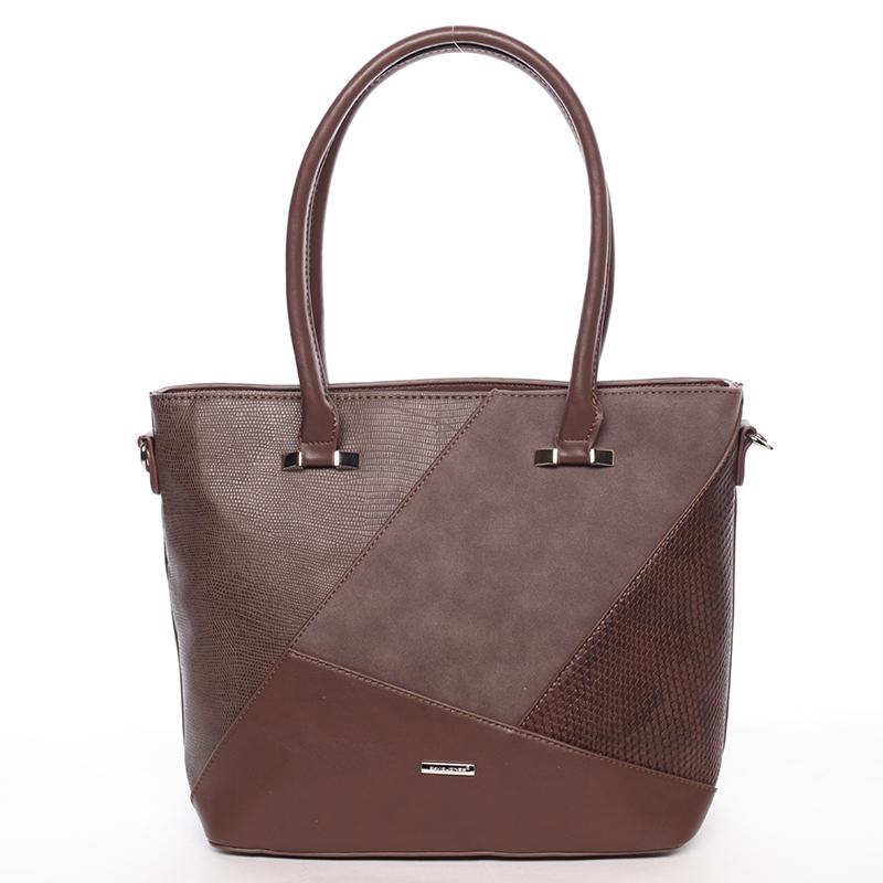 Dámská kabelka střední velikosti Lidiya, tmavě hnědá