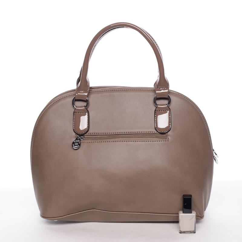 Luxusní  kabelka do ruky Silvie Rosa, khaki