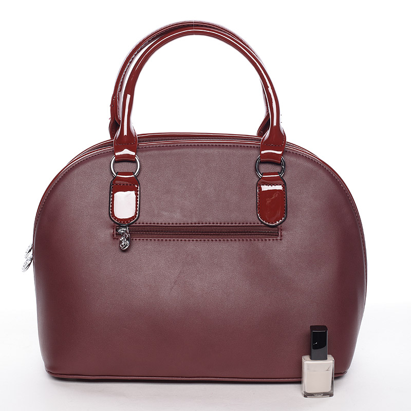 Luxusní  kabelka do ruky Silvie Rosa, červená