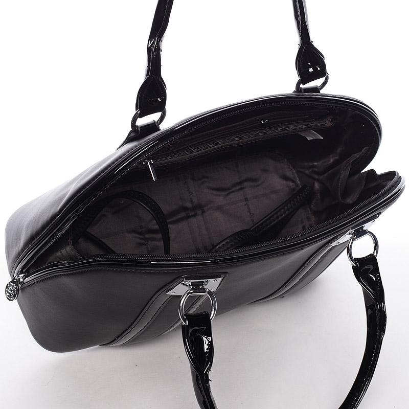Luxusní  kabelka do ruky Silvie Rosa, černá