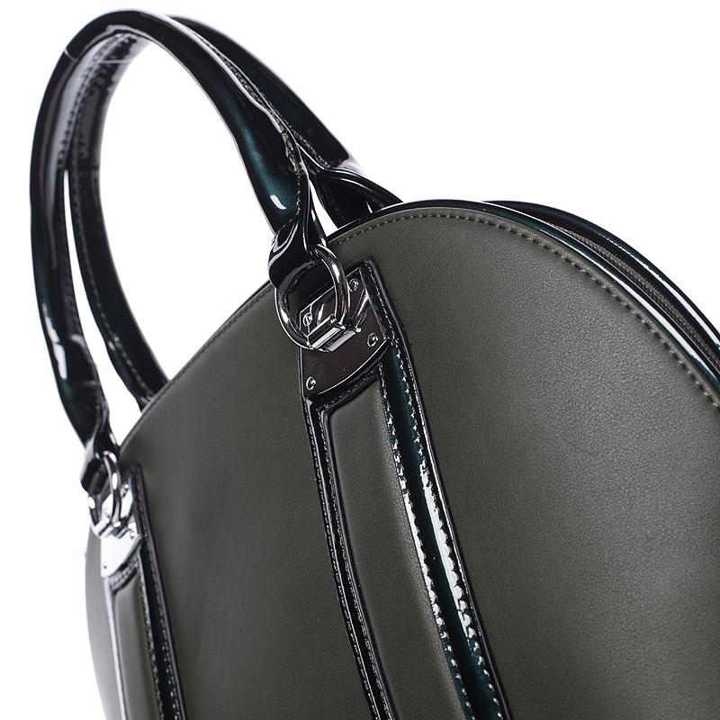 Luxusní  kabelka do ruky Silvie Rosa, zelená