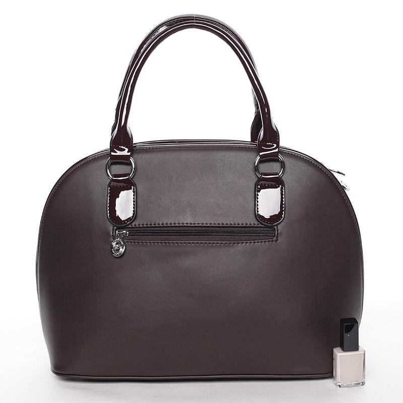 Luxusní  kabelka do ruky Silvie Rosa, kávová