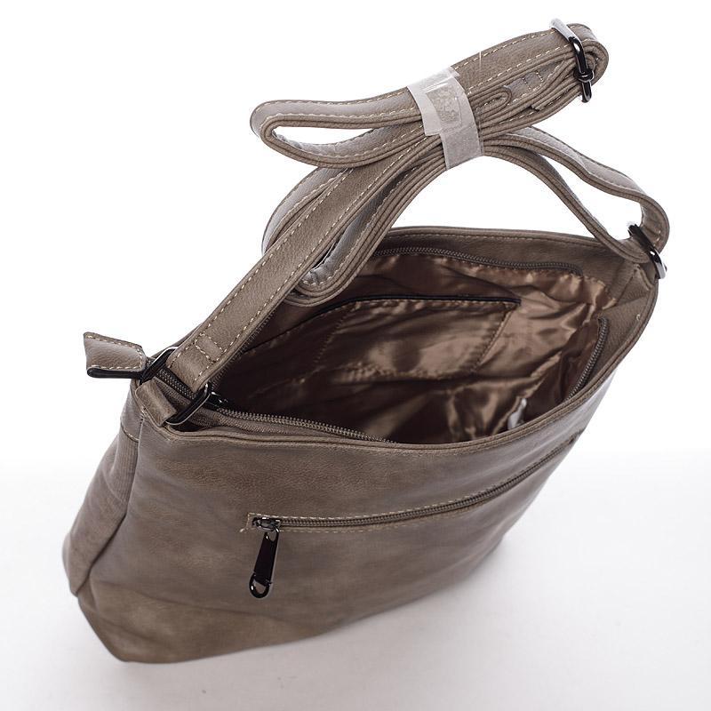 Stylová crossbody kabelka Jennifer, khaki