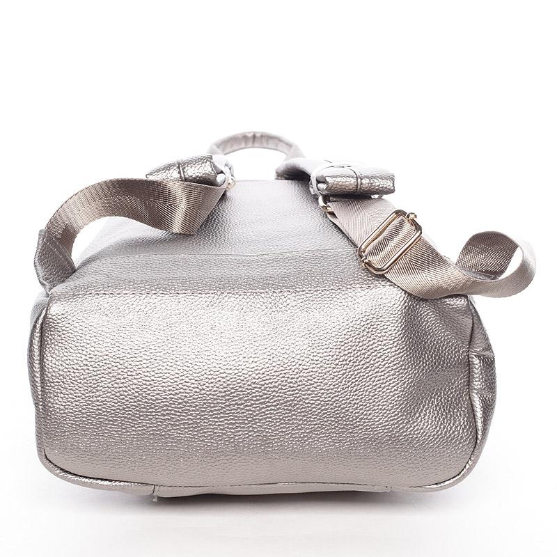 Dámský střední baťůžek Ella, stříbrný