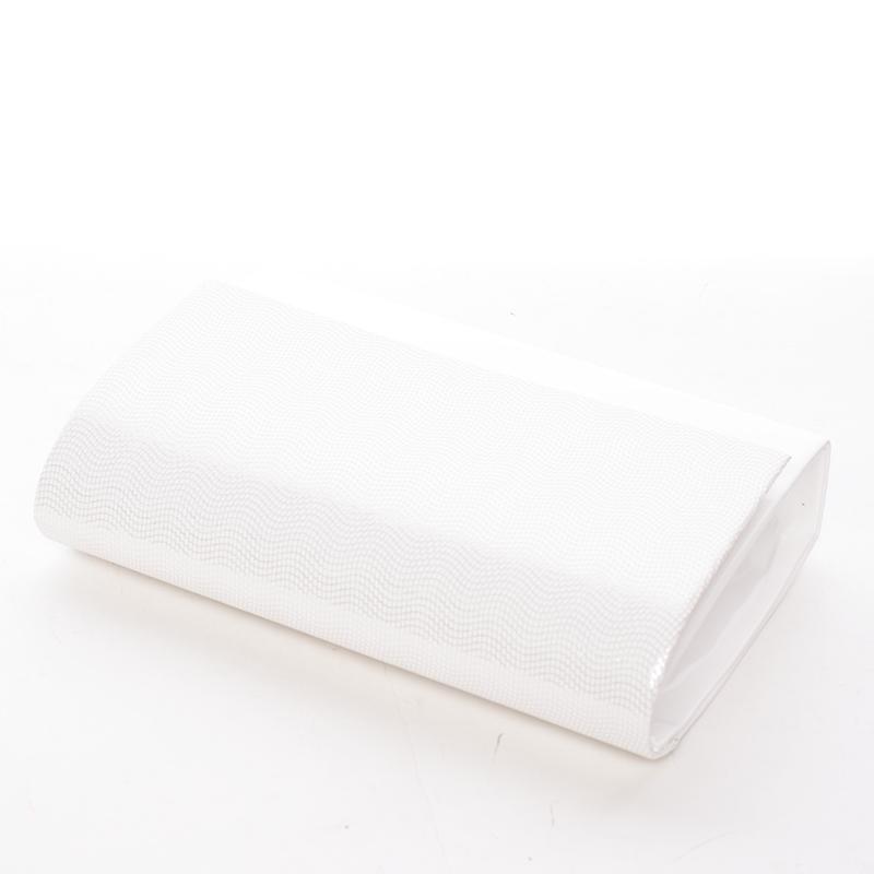 Elagantní dámské psaníčko Juliana, bílé lakované - potisk