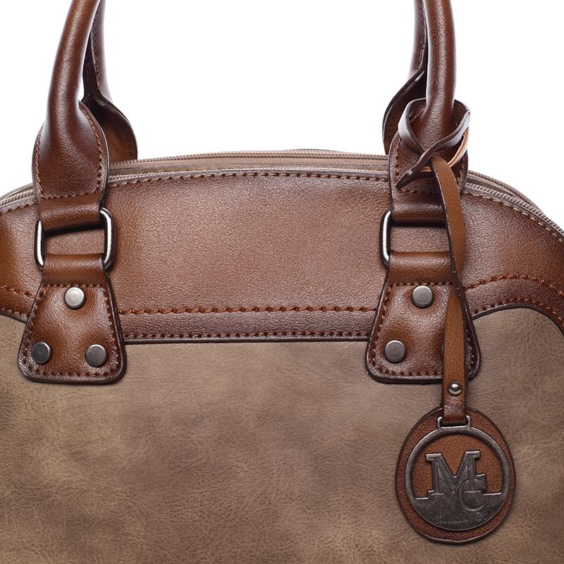 Trendová dámská kabelka do ruky Destiney, oříšková