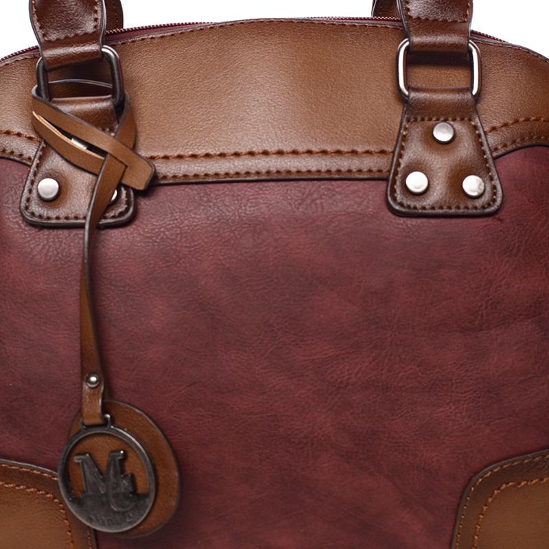 Trendová dámská kabelka do ruky Destiney, červená
