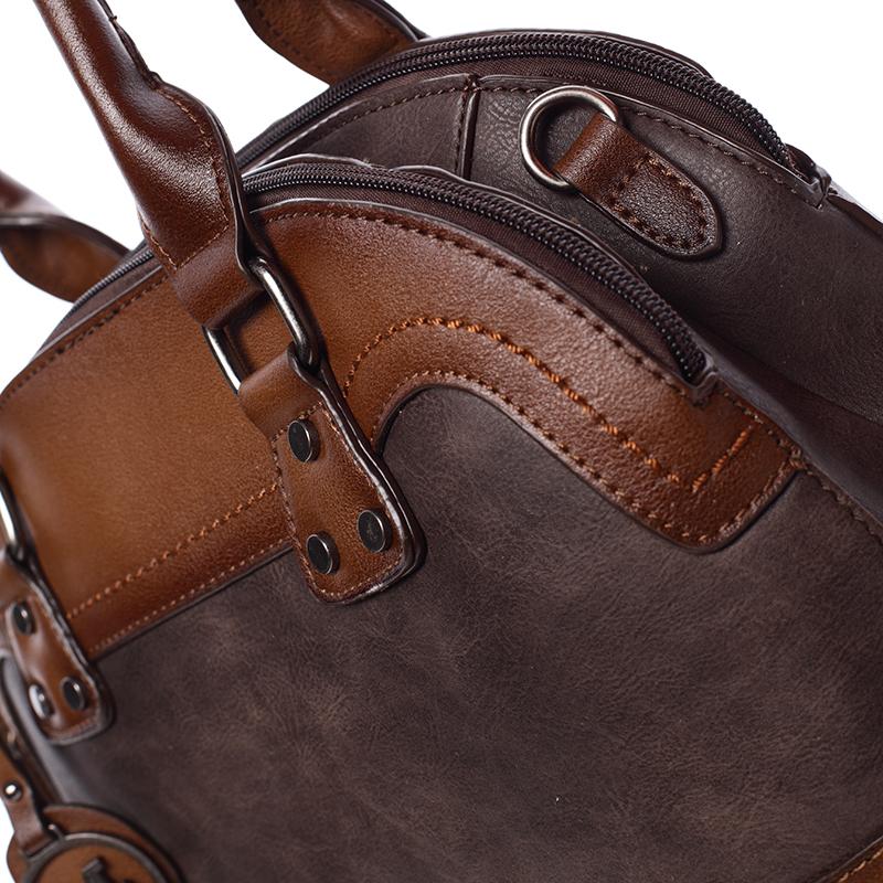 Trendová dámská kabelka do ruky Destiney, kávová