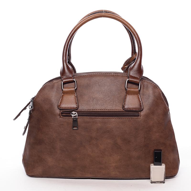 Trendová dámská kabelka do ruky Destiney, hnědá