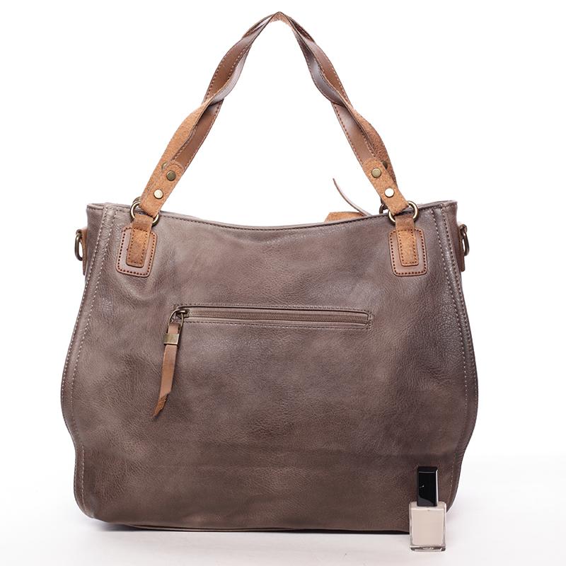 Originální dámská kabelka přes rameno Katelin, oříšková