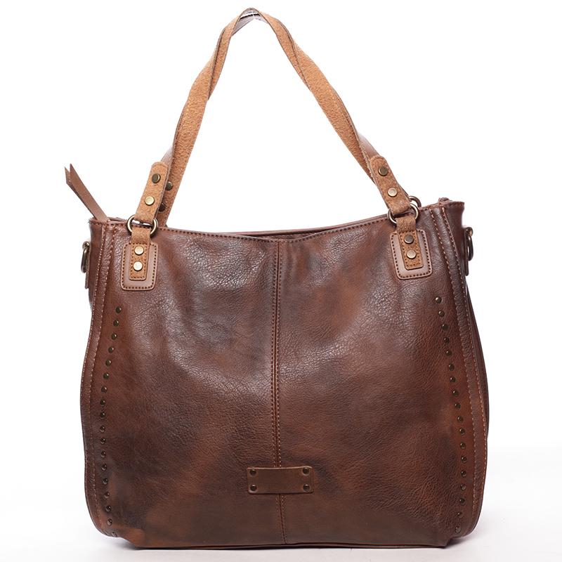 Originální dámská kabelka přes rameno Katelin, hnědá