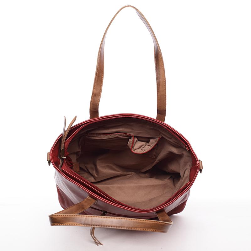 Stylová dámská kabelka Alexys, červená