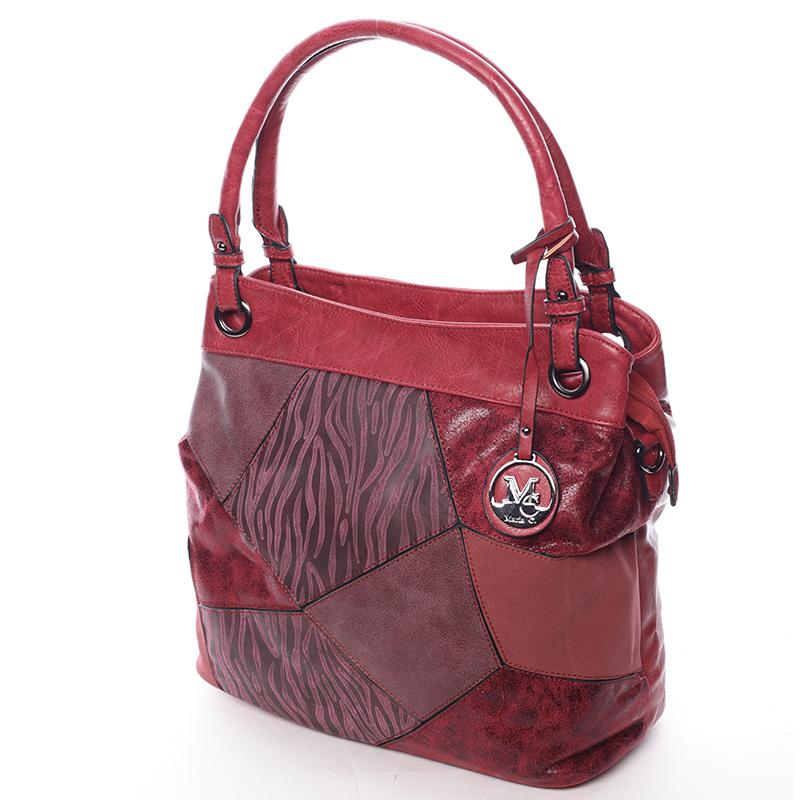 Vzorovaná kabelka do ruky Estrella, červená