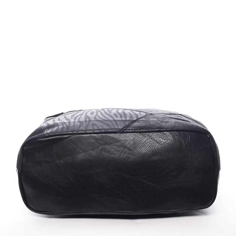 Vzorovaná kabelka do ruky Estrella, černá