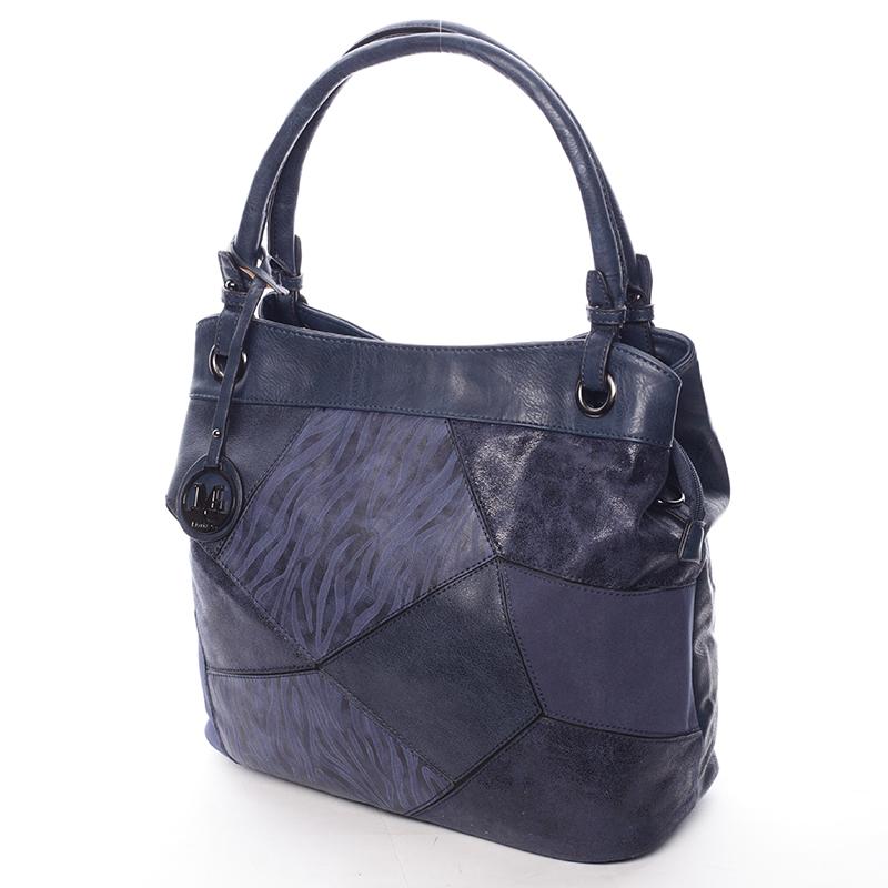 Vzorovaná kabelka do ruky Estrella, modrá