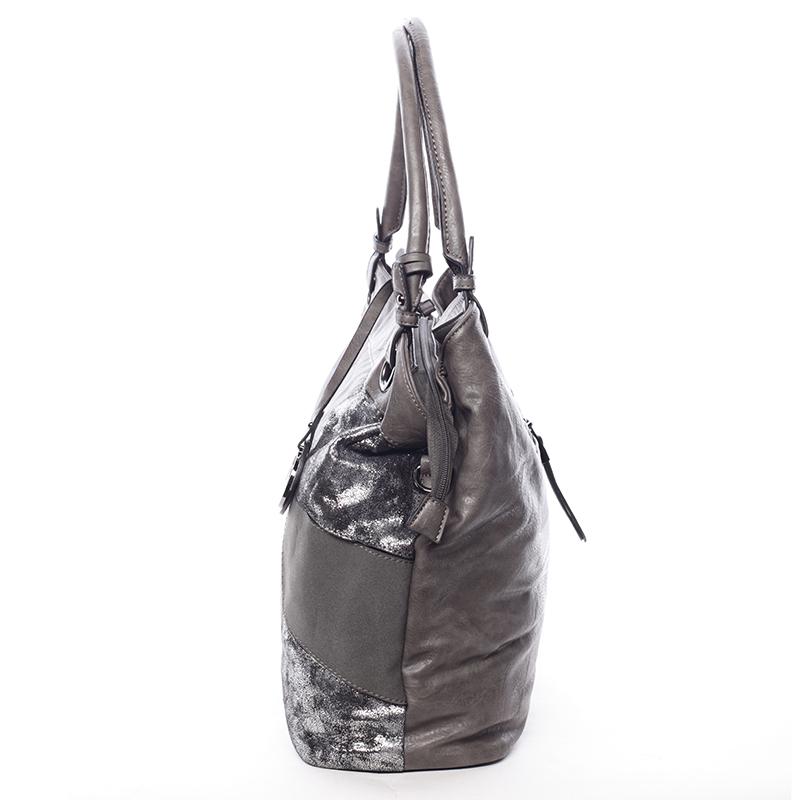 Vzorovaná kabelka do ruky Estrella, šedá