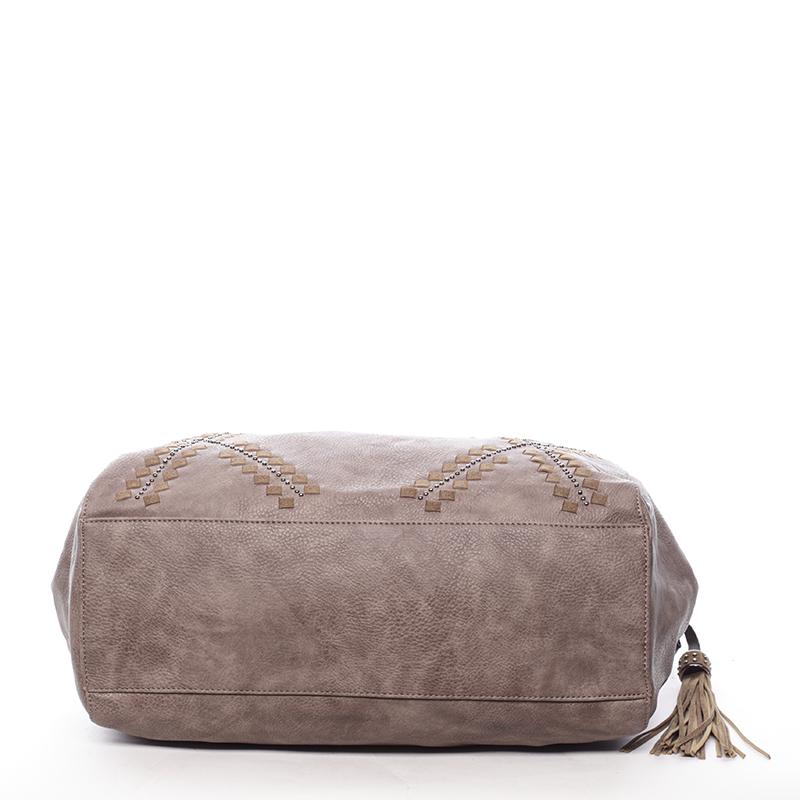 Stylová měkká kabelka Lacey, oříšková