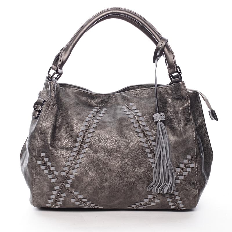Stylová měkká kabelka Lacey, šedá