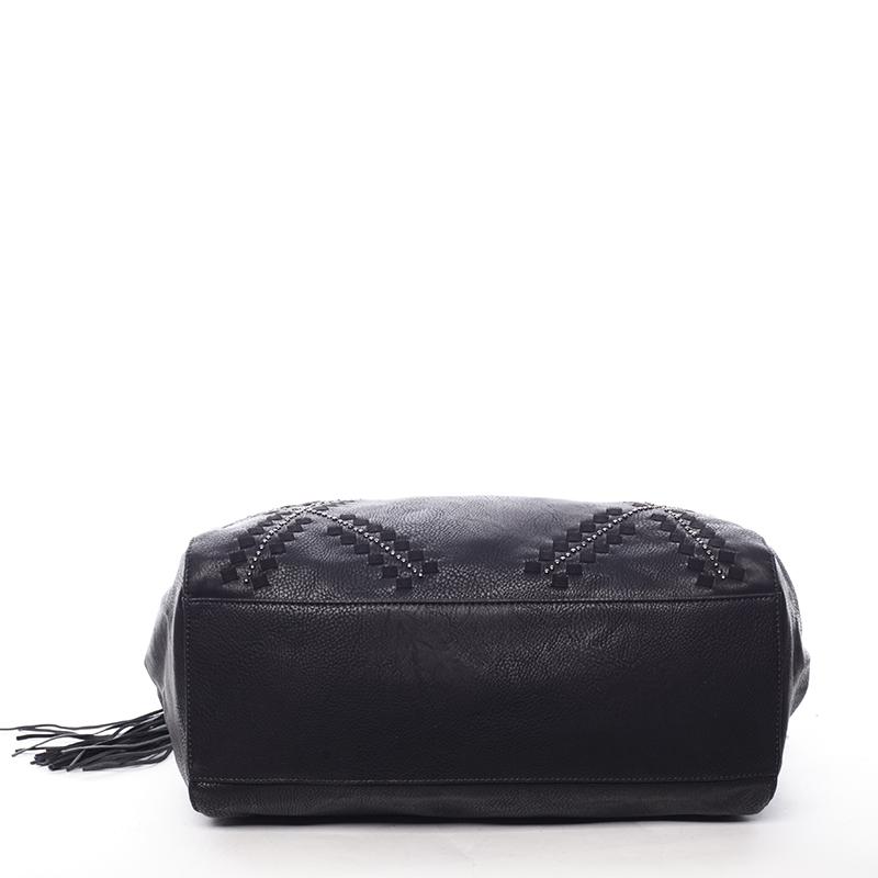 Stylová měkká kabelka Lacey, černá