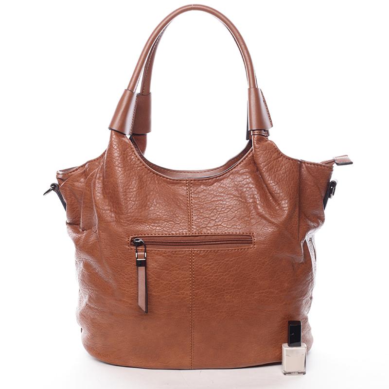 Trendy kabelka přes rameno Lily, hnědá