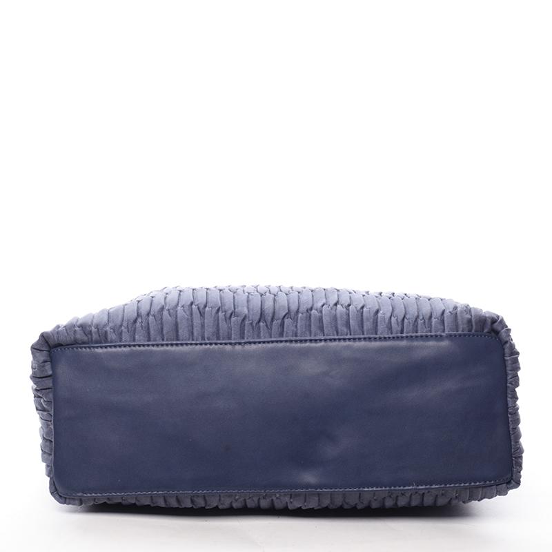 Měkká originální kabelka Margarita, modrá