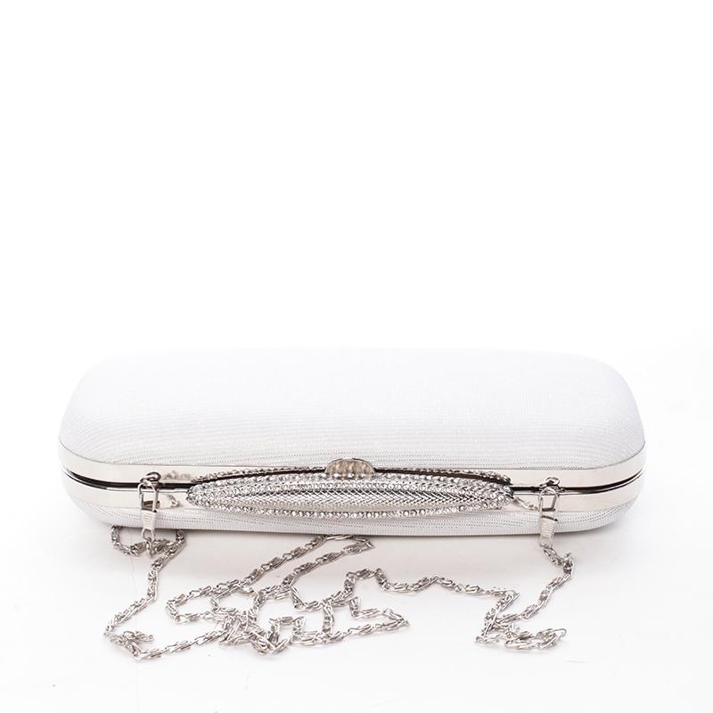 Luxusní perleťové večerní psaníčko, bílé