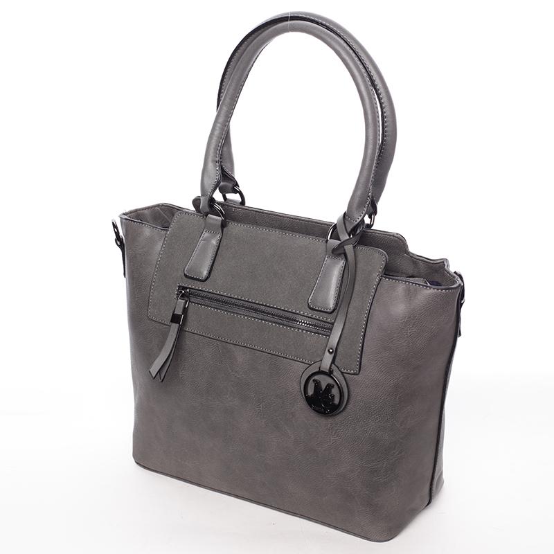 Luxusní kabelka přes rameno Milia, šedá