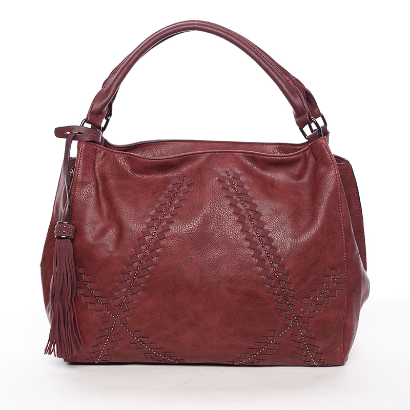 Stylová měkká kabelka Lacey, červená