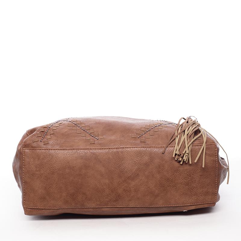 Stylová měkká kabelka Lacey, hnědá