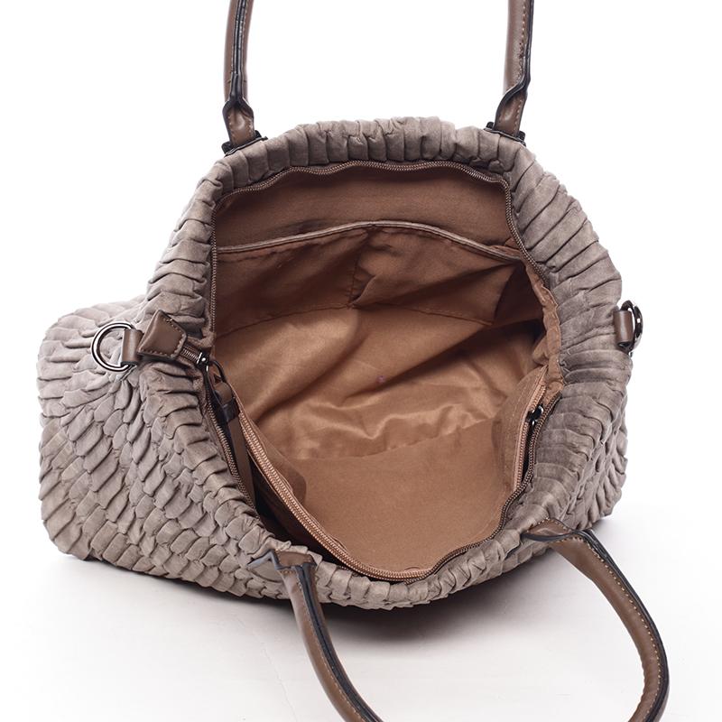 Trendy kabelka mačkavého vzhledu Amelia, oříšková