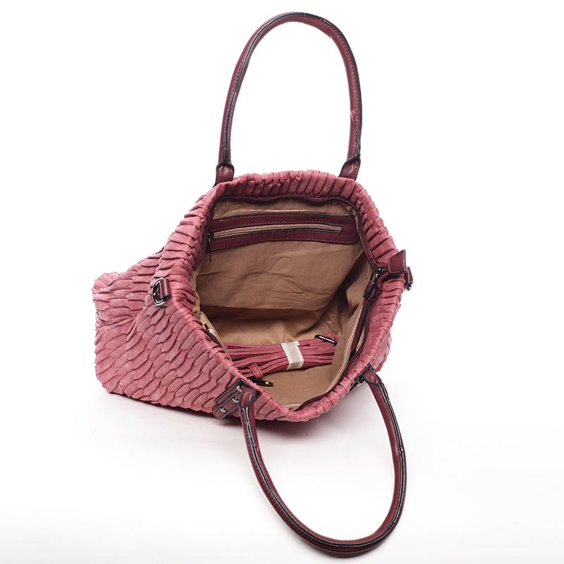 Trendy kabelka mačkavého vzhledu Amelia, červená