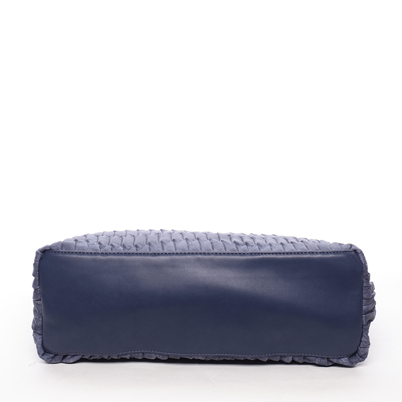 Trendy kabelka mačkavého vzhledu Amelia, modrá