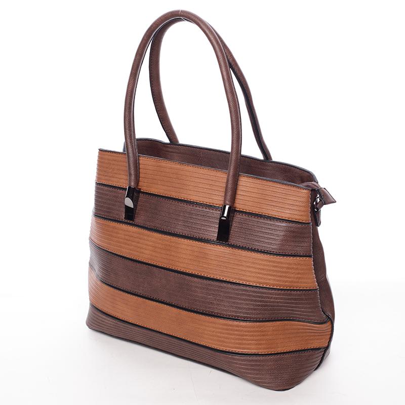 Elegantní dámská kabelka do ruky Perla, kávová