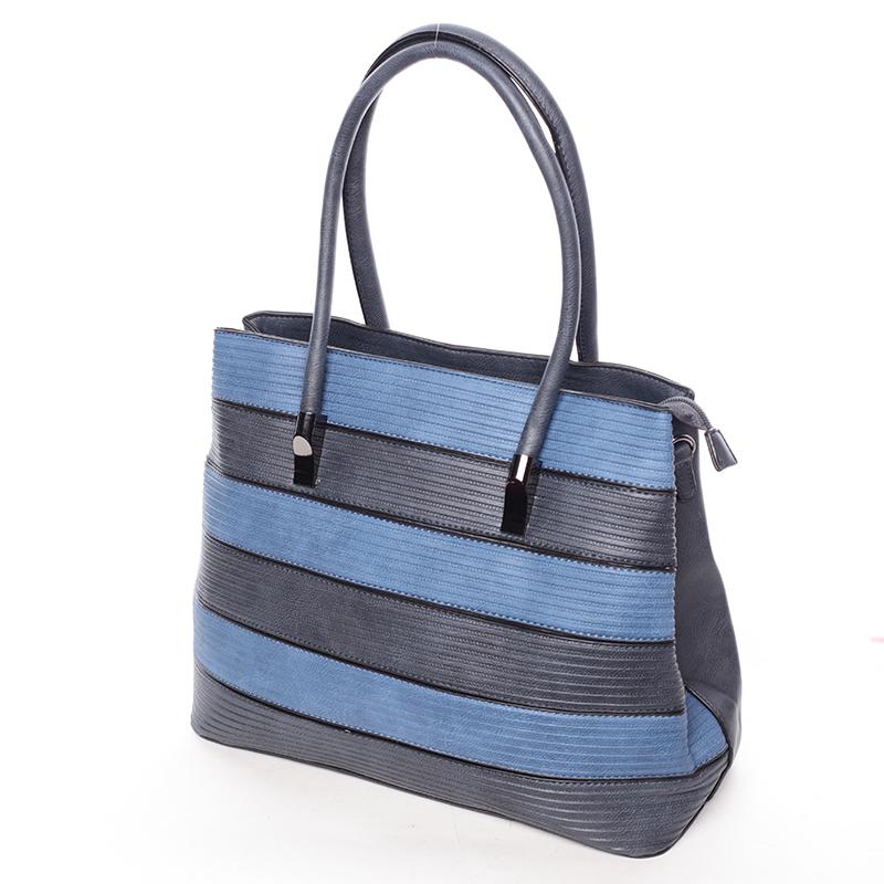 Elegantní dámská kabelka do ruky Perla, tmavě modrá