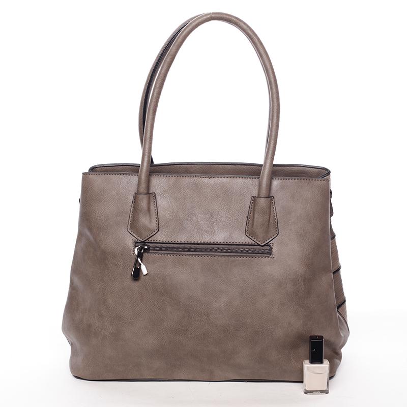Elegantní dámská kabelka do ruky Perla, písková