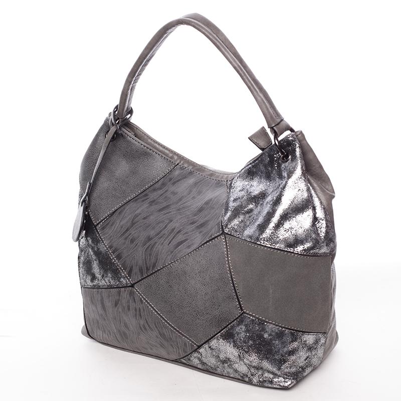 Trendy kabelka přes rameno BRIGITTE, šedá