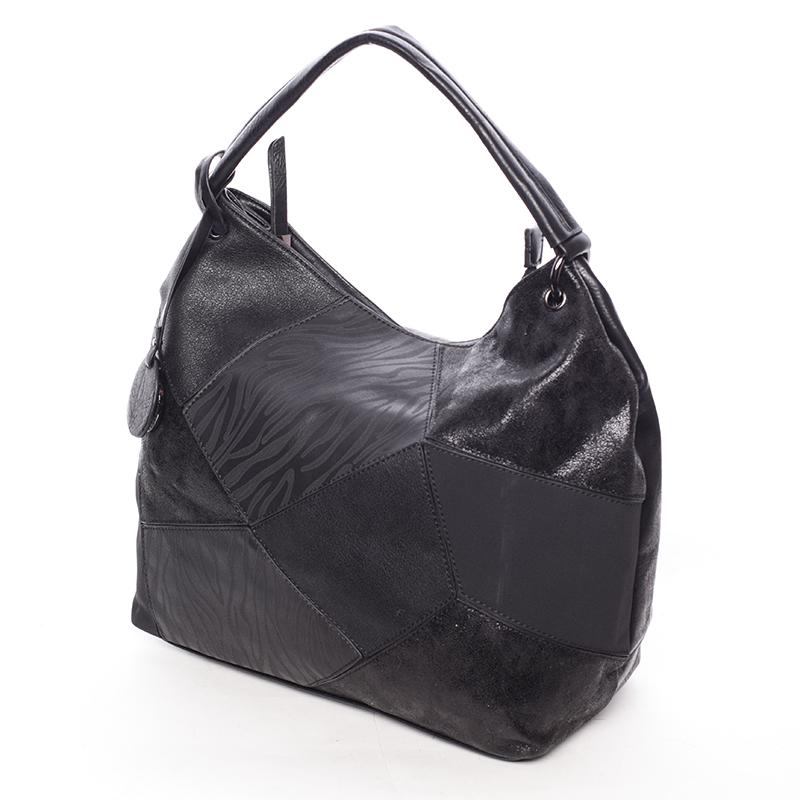Trendy kabelka přes rameno BRIGITTE, černá