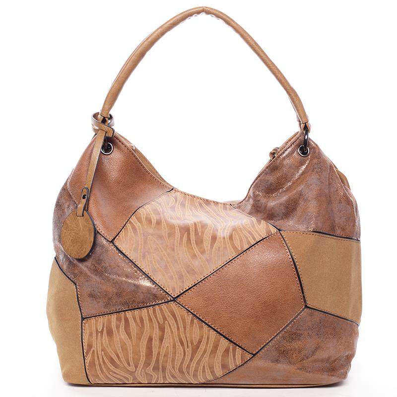 Trendy kabelka přes rameno BRIGITTE, hnědá