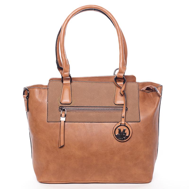 Luxusní kabelka přes rameno Milia, hnědá