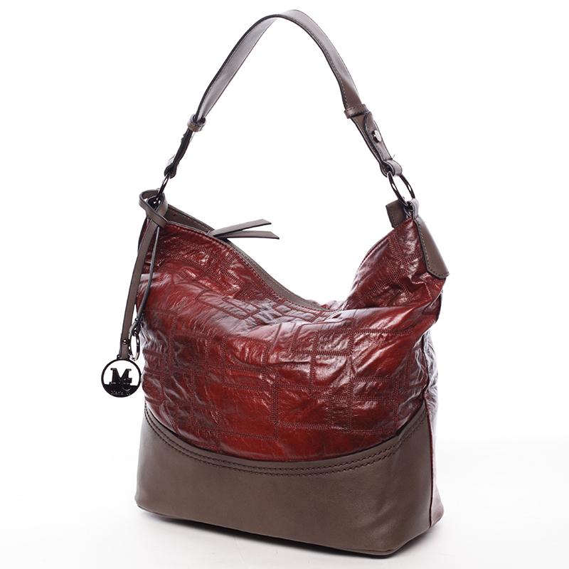 Originální dámská kabelka Antonina, červená