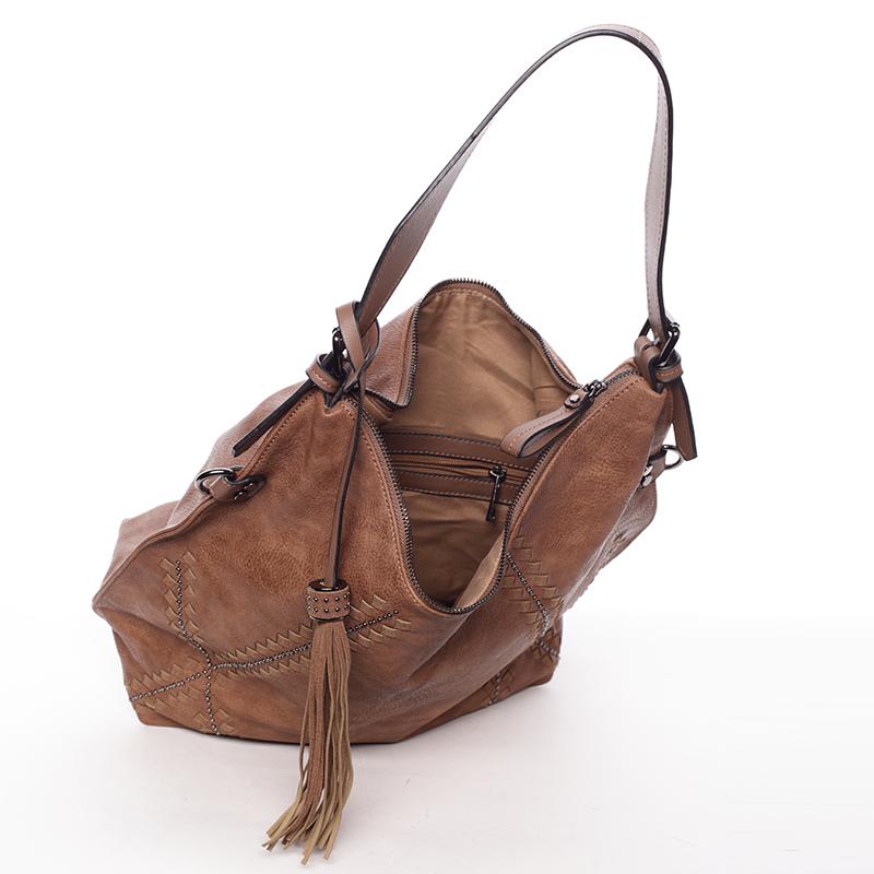 Stylová kabelka Emily, hnědá