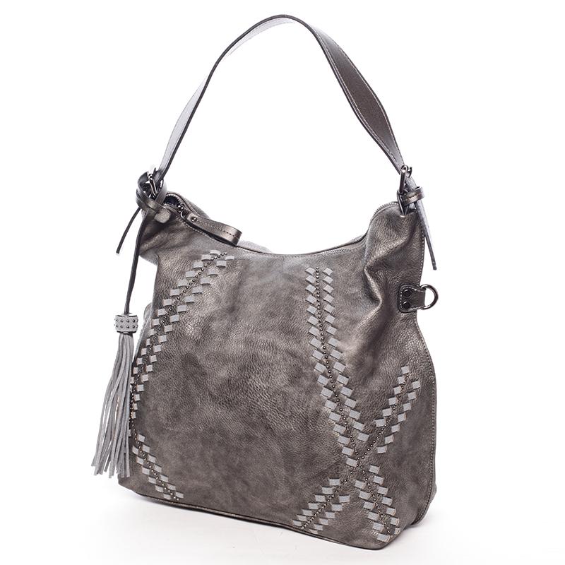 Stylová kabelka Emily, šedá