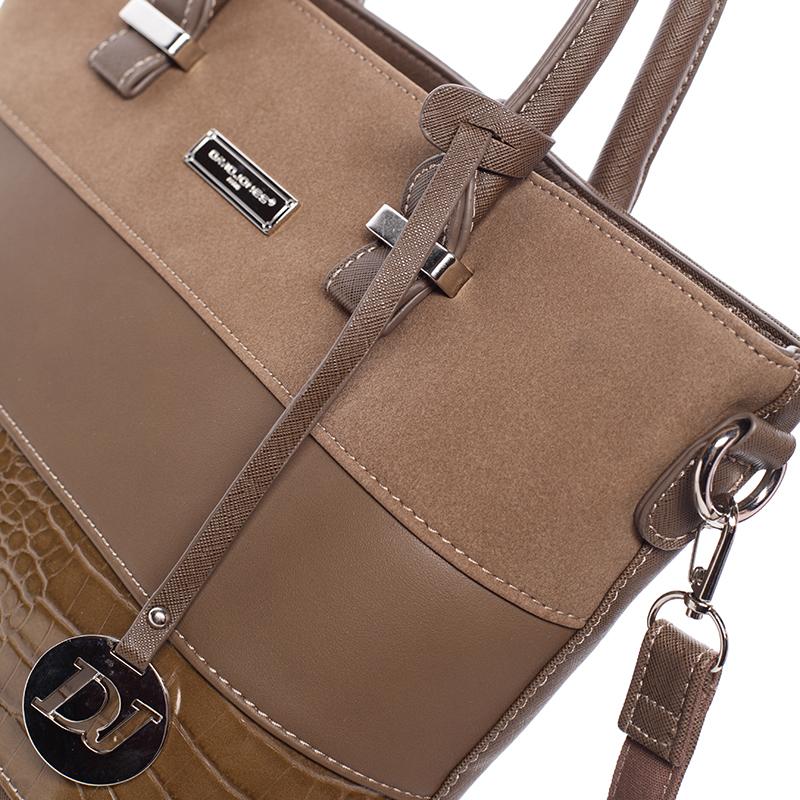Dámská luxusní kabelka do ruky MICHELE, tmavý oříšek