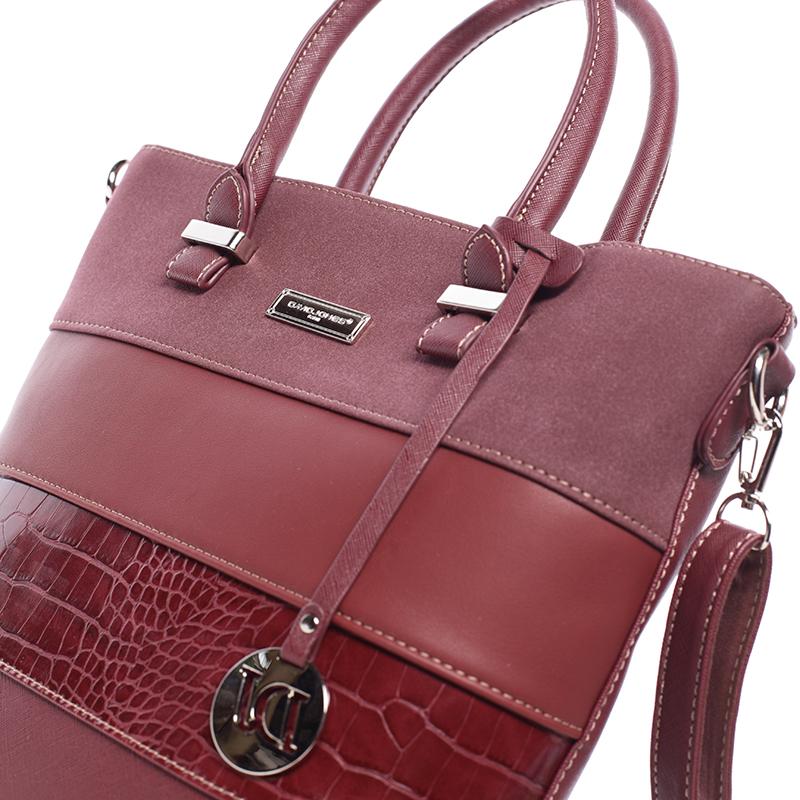 Dámská luxusní kabelka do ruky MICHELE, bordó